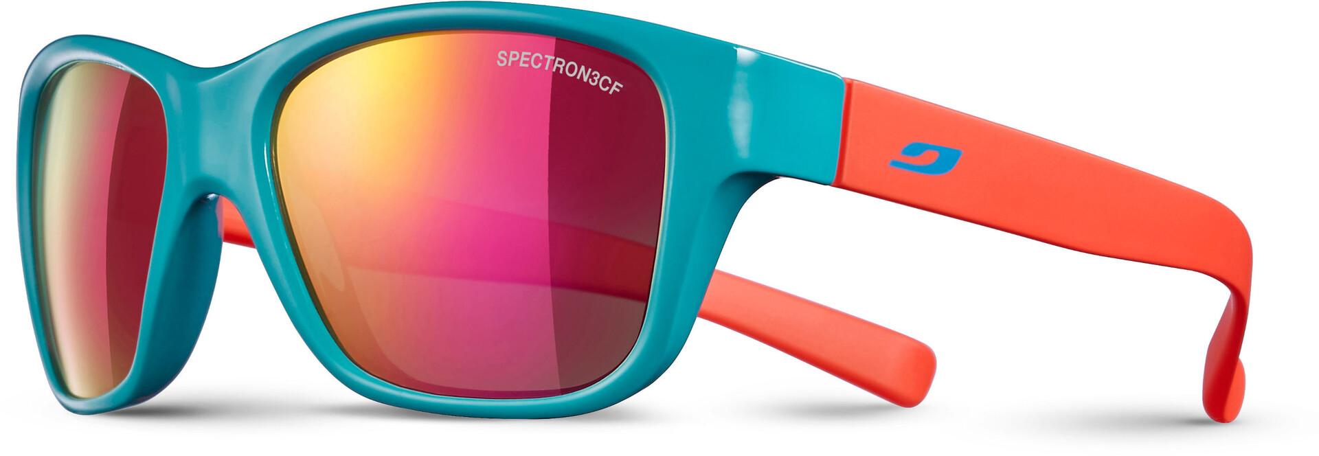 Julbo Turn Spectron 3CF Solbriller 4 8Y Børn, shiny turquoisematt coral multilayer pink
